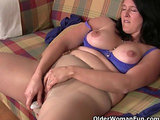 British grannies love solo sex in..