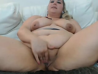 Fat Milf Masturbating and..
