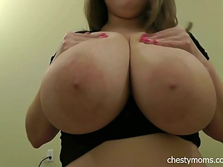 Busty Saraha Sucking Tits 38HH