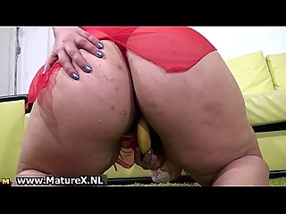BBW hairy mom loves fucking her..