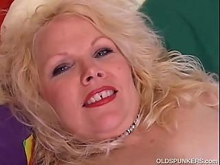 Cute chubby mature blonde