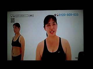Japanese BBW mom doing exercise