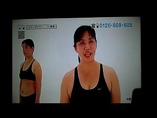 Japanese BBW mom doing exercise