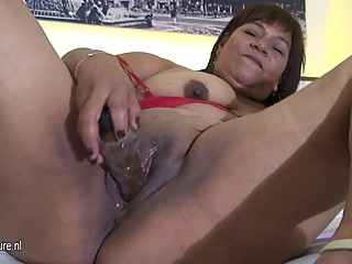Mature chubby slut mom Olga loves to get..