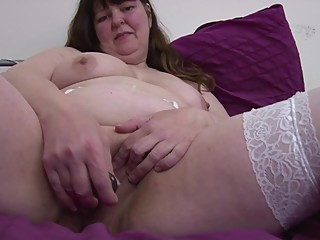Big chubby mature mom in white..