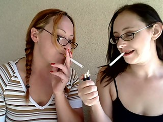 Selena & Audrey Smoking Fetish MILF's